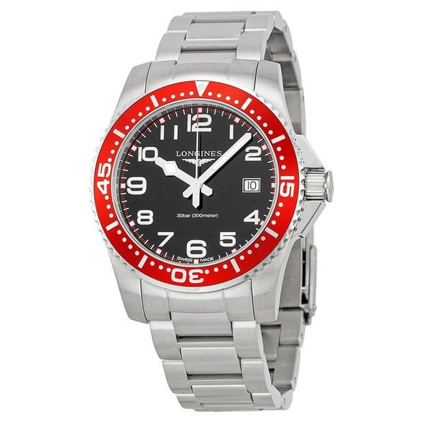 Longines Men's L36894596 'HydroConquest' Stainless Steel Watch. Opens flyout.
