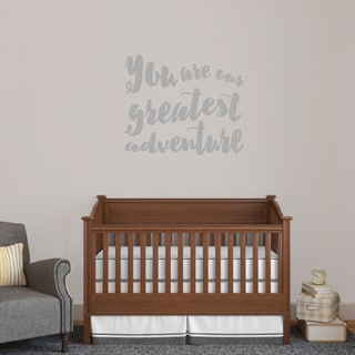 Sweetums Vinyl 36-inch x 30-inch 'You Are Our Greatest Adventure' Wall Decal