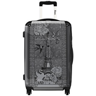 iKase Lollipops Eiffel Tower Fashion Graphic 20-inch Hardside Carry-On Upright Suitcase