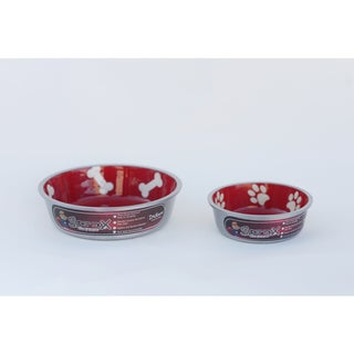 Indipets Super Max Aluminum Cat/ Dog Bowls (Set of 2)