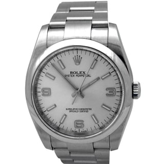 Pre-owned Rolex Stainless Steel Water Resistant Datejust Watch