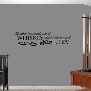 Sweetums 'Shot of Whiskey Cup of Tea' 48-inch x 12-inch Wall Decal
