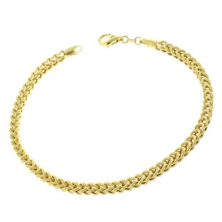 14k Yellow Gold 3.5-millimeter 8.5-inch Hollow Franco Bracelet Chain