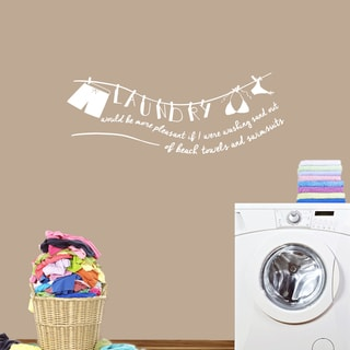 Laundry - Sand Out of Swimsuit' 48 x 18-inch Wall Decal