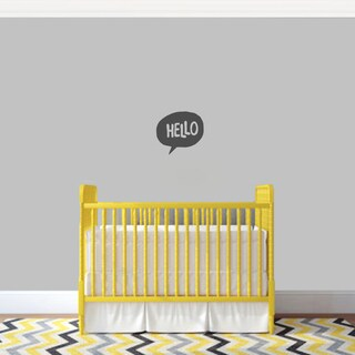 Hello Word Bubble' 12 x 11-inch Wall Decal