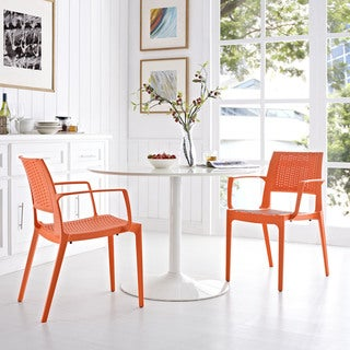 Modway Astute Polypropylene Dining Chairs (Set of 2)