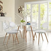 Modway Basket White Metal 4-piece Chair Set