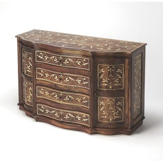 Handmade Butler Chevrier Wood & Bone Inlay Sideboard (India)
