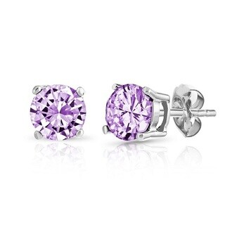 .925 Sterling Silver Crafted Genuine Birthstone Earrings (More options available)