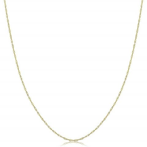 Jewel Solid 14-carat Yellow Gold 18-inch Cable Chain