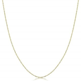Jewel Solid 14-carat Yellow Gold 18-inch Cable Chain (4 options available)