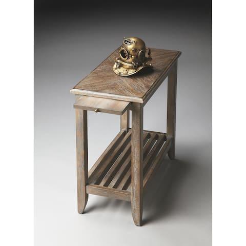 Butler Transitional Rectangular Chairside Table - Light Brown