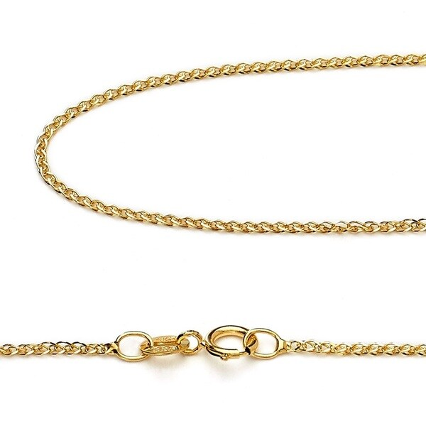 16 INCHES LONG 14KT GOLD SQUARE WHEAT CHAIN SQUARE WHEAT CHAIN