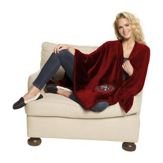 NFL 453 49ers Silk Touch Wrap Throw