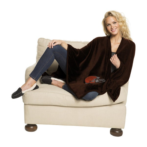 NFL 453 Browns Silk Touch Wrap Throw