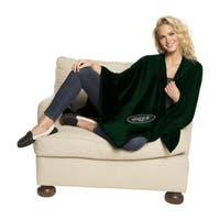 NFL 453 Jets Silk Touch Wrap Throw