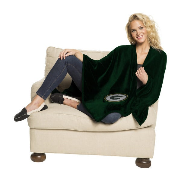 NFL 453 Packers Silk Touch Wrap Throw