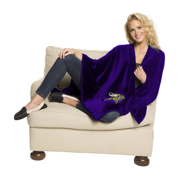 NFL 453 Vikings Silk Touch Wrap Throw