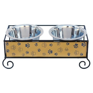 Link to Indipets Luxe Craft Wood and Iron Paw Dog Bowls Similar Items in Dog Feeders & Waterers