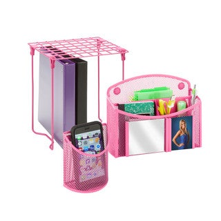 Honey-Can-Do Pink Back to School Kit 3