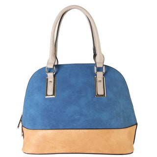 Diophy Women's Two-tone Shell Tote with Removable Straps