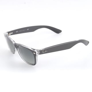 Ray-Ban New Wayfarer Brushed Gunmetal on Crystal Plastic 55-millimeter Sunglasses