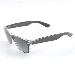 Ray-Ban New Wayfarer Brushed Gunmetal on Crystal Plastic 55-millimeter Sunglasses