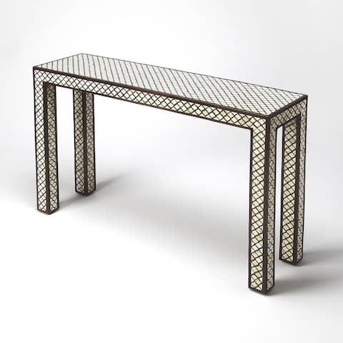 Butler Basan Wood & Bone Inlay Console Table