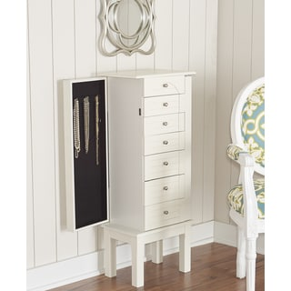 Powell Jackson White Jewelry Armoire