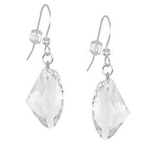 Jewelry by Dawn Clear Crystal Galactic Sterling Silver Earrings