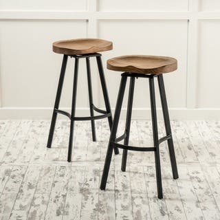 Albia 32-inch Swivel Barstool (Set of 2) by Christopher Knight Home|https://ak1.ostkcdn.com/images/products/12091240/P18955500.jpg?impolicy=medium