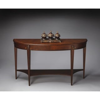 Butler Astor Nutmeg Demilune Console Table
