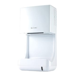 Air Towel White ABS Electric Hand Dryer with Temperature Controlled High Speed Airflow