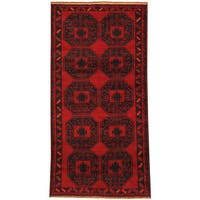 Handmade Herat Oriental Afghan Tribal Balouchi Wool Rug (Afghanistan) - 3'4 x 6'7
