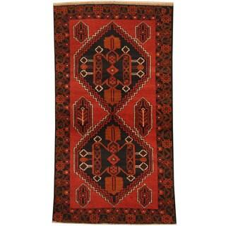 Herat Oriental Afghan Hand-knotted Tribal Balouchi Wool Rug (3'6 x 6'5)