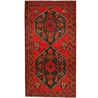 Herat Oriental Afghan Hand-knotted Tribal Balouchi Wool Rug (3'7 x 6'9)