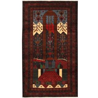 Handmade Balouchi Wool Rug (Afghanistan) - 3'7 x 6'1