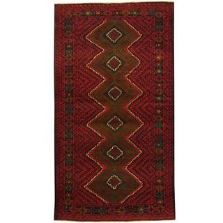 Herat Oriental Afghan Hand-knotted Tribal Balouchi Wool Rug (3'7 x 6'7)