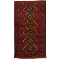 Handmade Herat Oriental Afghan Tribal Balouchi Wool Rug (Afghanistan) - 3'7 x 6'7