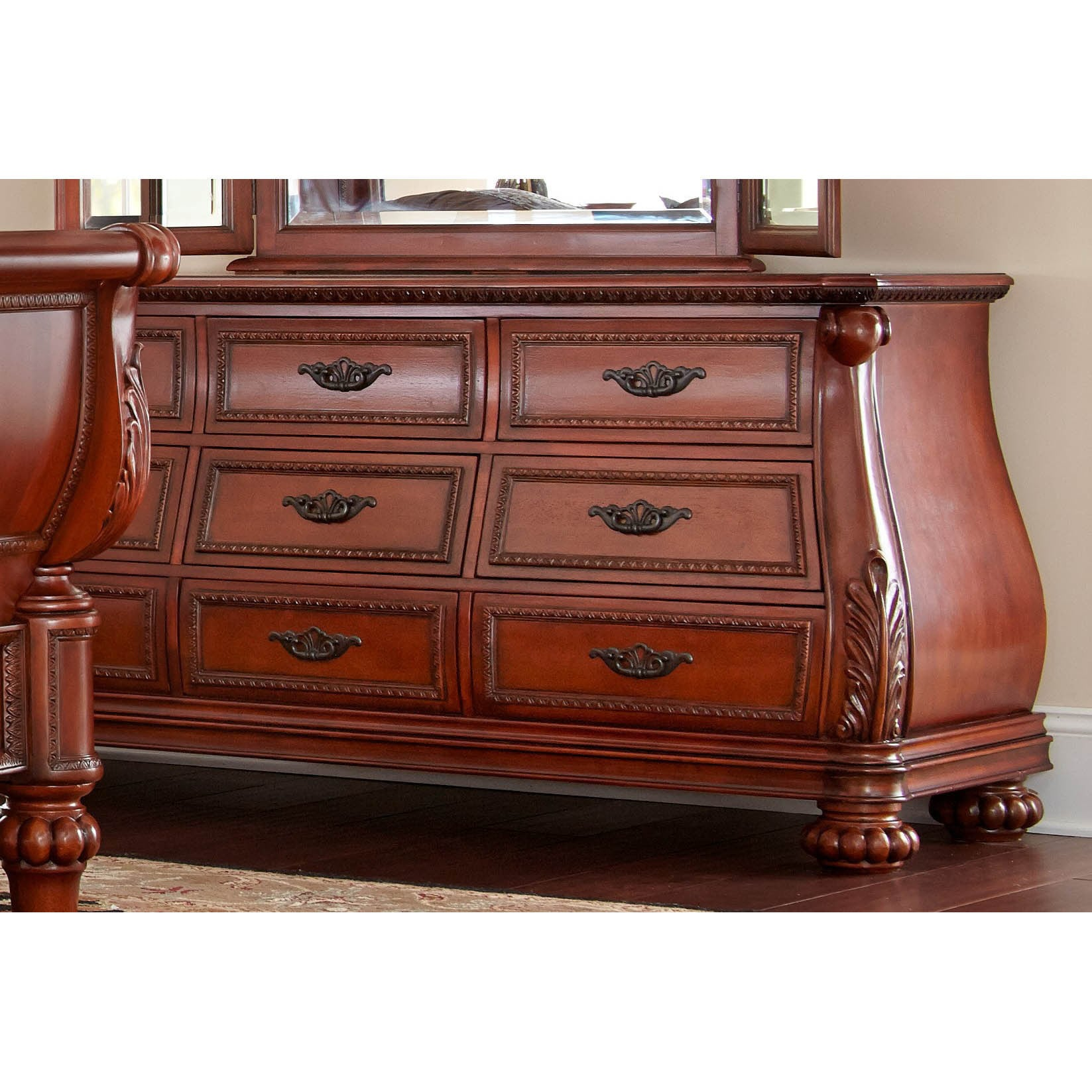 Lyke Home Myst Cherry Finish Wood Dresser (Myst Dresser),...