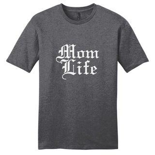 Sweetums Unisex 'Mom Life' Grey Cotton T-Shirt