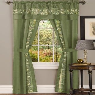 Achim Fairfield 5 Piece Window Curtain Set