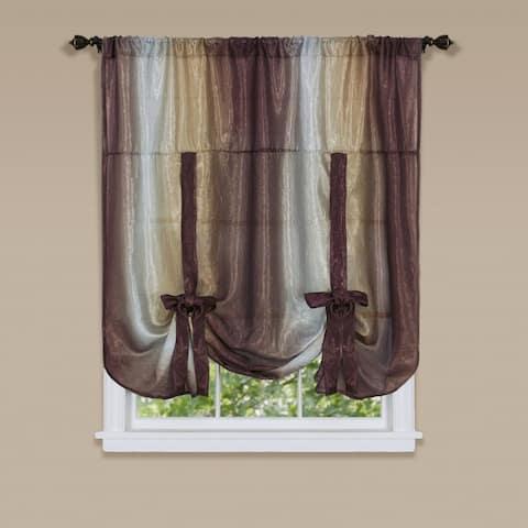 Achim Ombre Window Curtain Tie Up Shade - 50 x 63