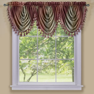 ACHIM Ombre Polyester Waterfall Valance Curtain