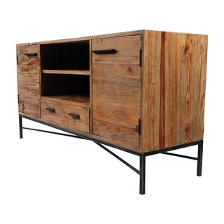 Angora Reclaimed Wood 2 Door 2 Drawer Entertainment Center (India)
