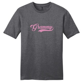 Sweetums Unisex Grammy Grandparents Grey Cotton T-shirt (More options available)