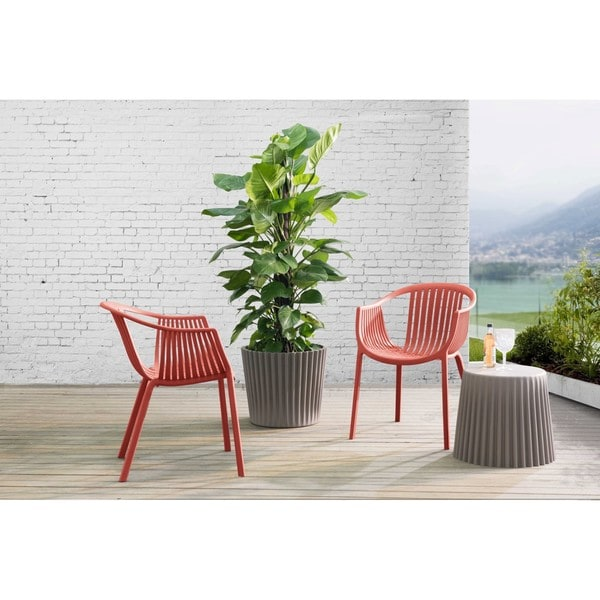 Sunjoy Polypropylene Basketweave Chair