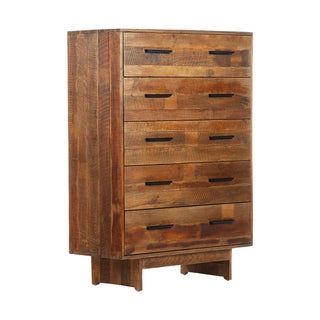 Angora Rustic Reclaimed Wood 5-Drawer Dresser (India)