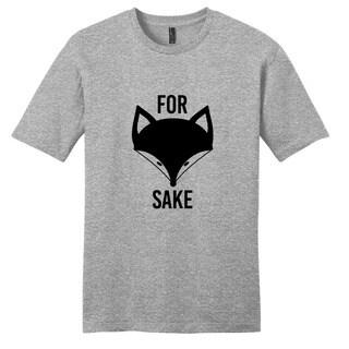 Sweetums Unisex Grey 'For Fox Sake' T-shirt