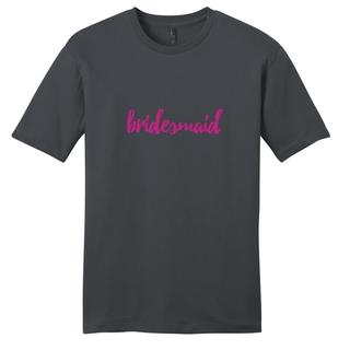 Sweetums Unisex Bridesmaid Wedding Grey Cotton T-shirt